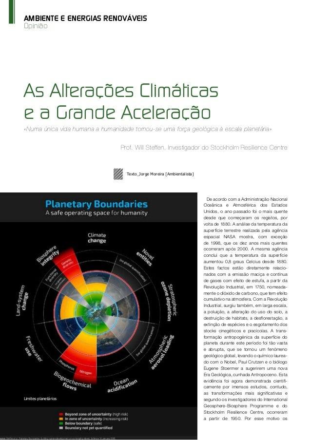 68 O Instalador Jan'/Fev'15 www.oinstalador.com Opinião AMBIENTE E ENERGIAS RENOVÁVEIS De acordo com a Administração Nacio...