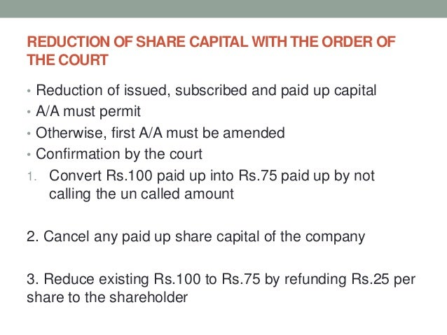 Alteration of Share Capital under Companies Act 2013