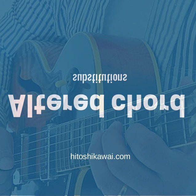 Altered chord substitutions hitoshikawai.com