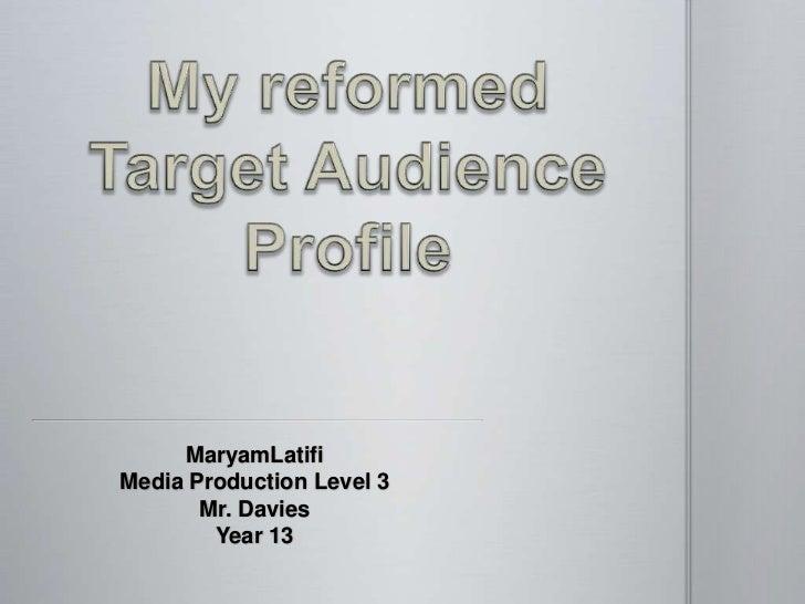MaryamLatifiMedia Production Level 3       Mr. Davies        Year 13