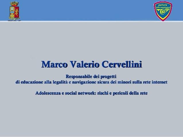 Marco Valerio CervelliniMarco Valerio Cervellini Responsabile dei progettiResponsabile dei progetti di educazione alla leg...