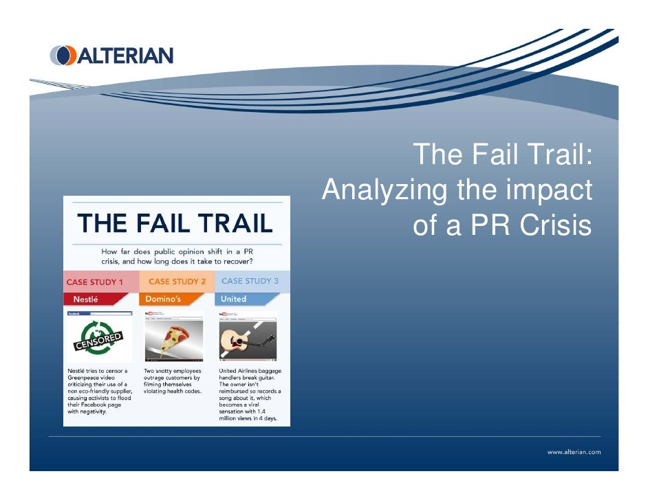 The Fail Trail:Analyzing the impact       of a PR Crisis
