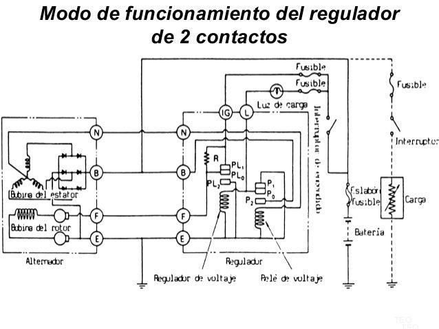 circuito regulador de voltaje alternador  conexi u00f3n de