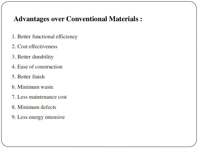 Alternate building materials for List of building materials needed to build a house
