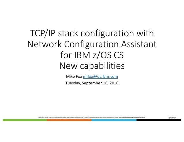 IBM Configuration Assistant for z/OS Communications Server