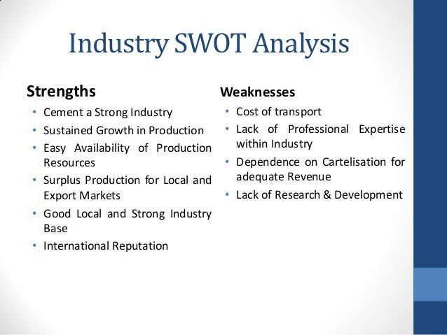 swot analysis of attock cement Presented by: irfan amanullah, attock cement  business plans what is the swot analysis of cement industries of pakistanmuch so the whole retreat program which.