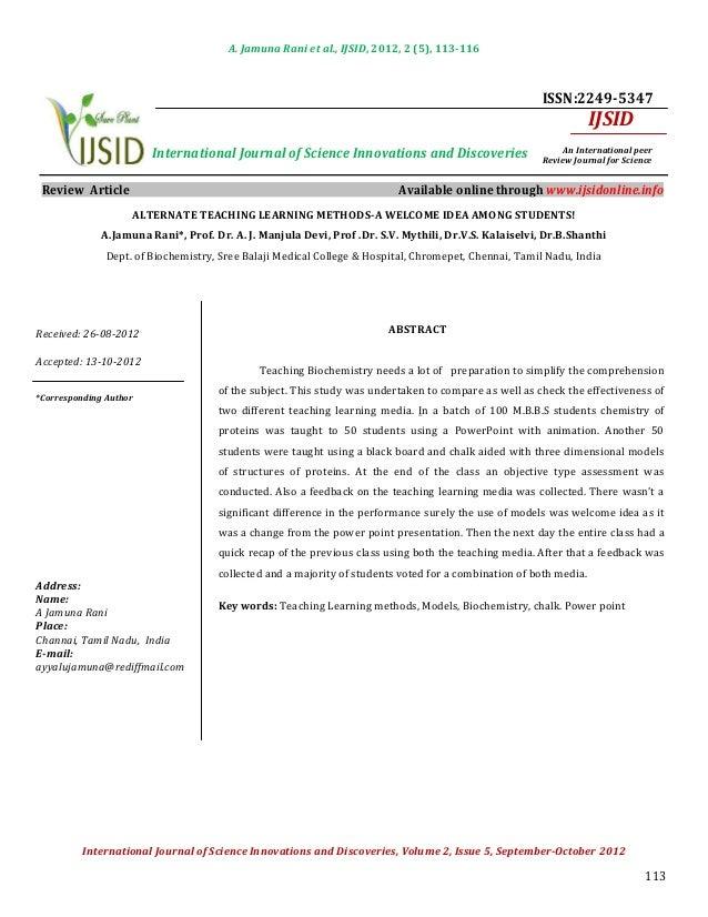 A. Jamuna Rani et al., IJSID, 2012, 2 (5), 113-116                                                                        ...