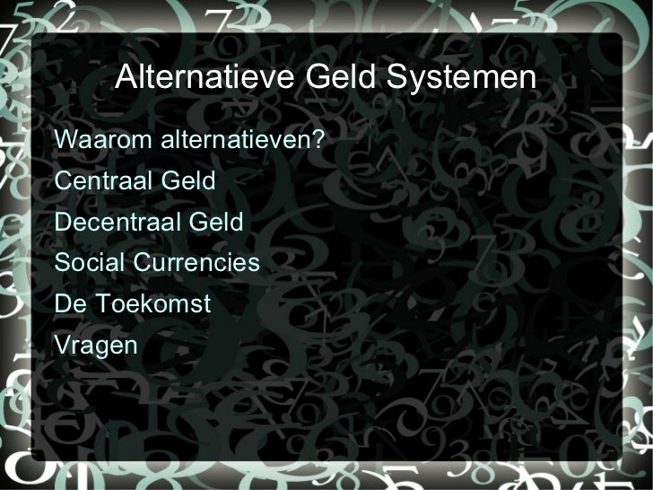 Alternatieven Slide 2