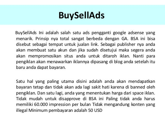 Alternatif Google Adsense Terbaik