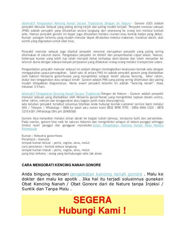 Alternatif Pengobatan Kencing Nanah Secara Tradisional Dengan de Nature - Gonore (GO) adalah penyakit Menular Seksual yang...