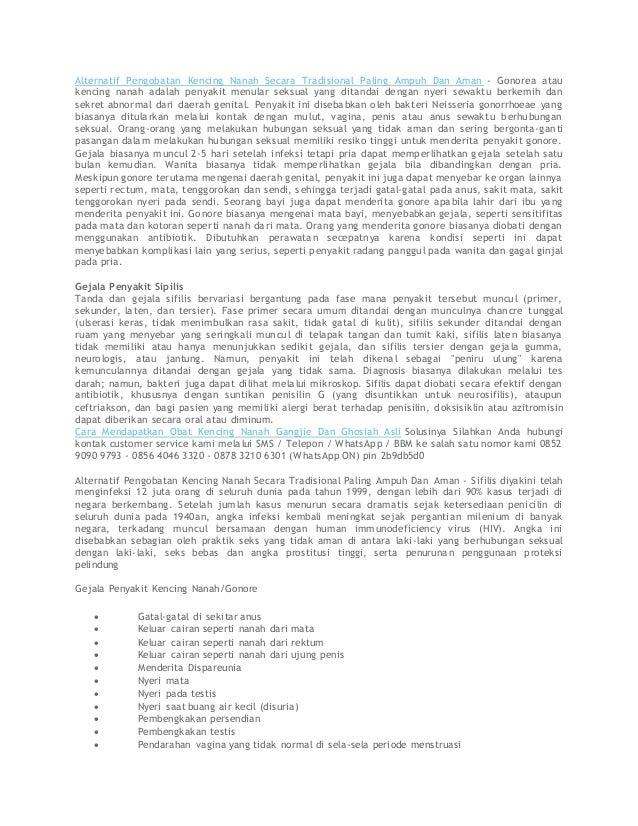 Alternatif Pengobatan Kencing Nanah Secara Tradisional Paling Ampuh Dan Aman - Gonorea atau kencing nanah adalah penyakit ...