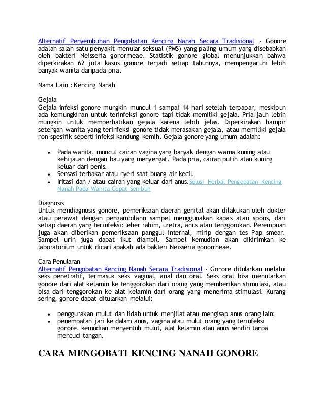 Alternatif Penyembuhan Pengobatan Kencing Nanah Secara Tradisional - Gonore adalah salah satu penyakit menular seksual (PM...