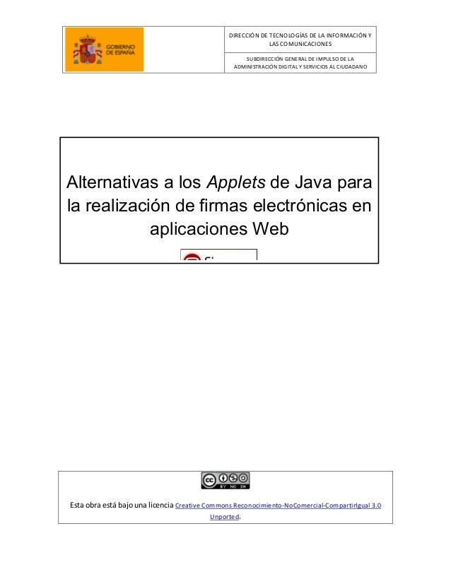 DIRECCIÓN DE TECNOLOGÍAS DE LA INFORMACIÓN Y LAS COMUNICACIONES SUBDIRECCIÓN GENERAL DE IMPULSO DE LA ADMINISTRACIÓN DIGIT...