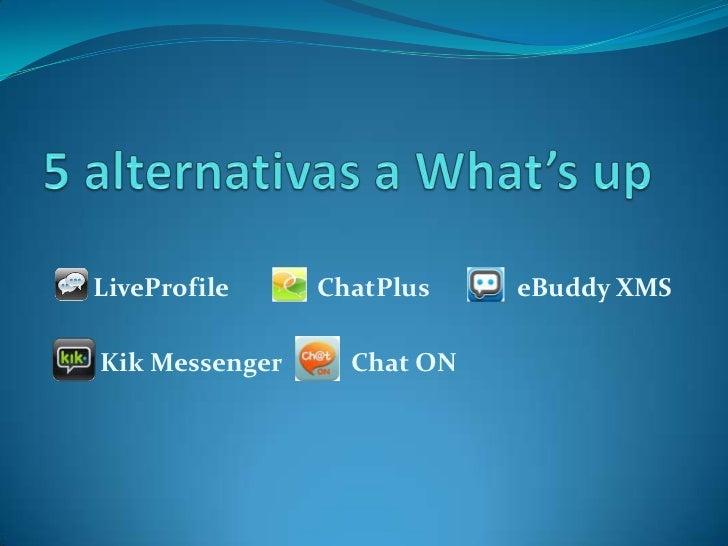 LiveProfile     ChatPlus    eBuddy XMSKik Messenger     Chat ON