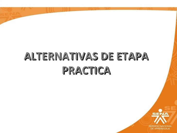 ALTERNATIVAS DE ETAPA PRACTICA