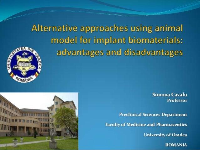 Simona Cavalu                           Professor      Preclinical Sciences DepartmentFaculty of Medicine and Pharmaceutic...