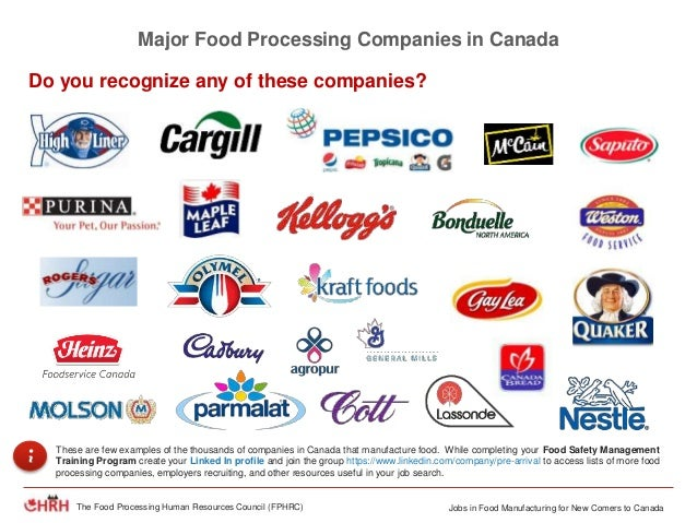 alternative careers in food processing