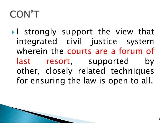 a discussion on the various methods of court related alternative dispute resolution What is alternative dispute resolution (adr) adr is a term used to describe several different methods of resolving legal disputes without going to court.