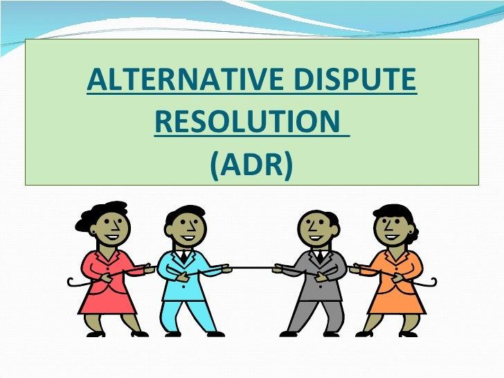 Alternative dispute resolution law531