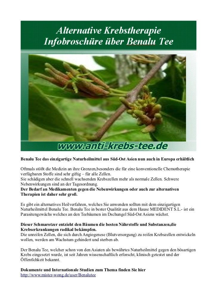 Benalu Tee das einzigartige Naturheilmittel aus Süd-Ost Asien nun auch in Europa erhältlichOftmals stößt die Medizin an ih...