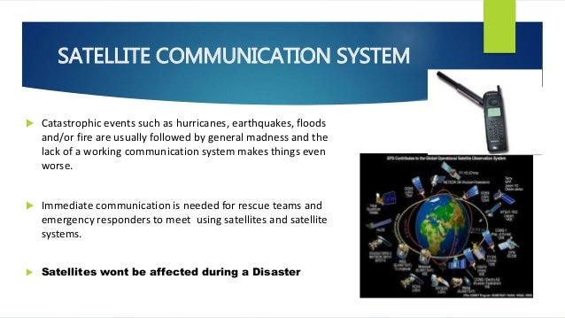 alternative communication system during disaster essay