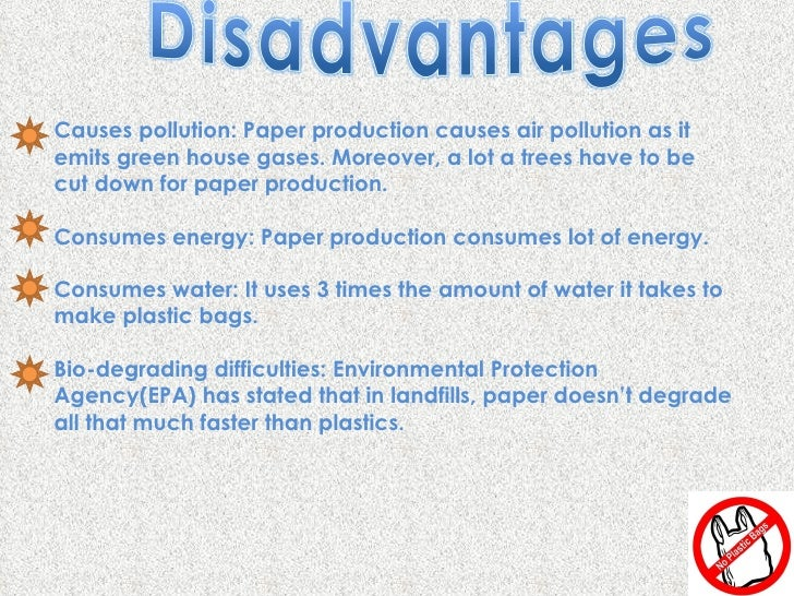 Disadvantages of Plastic Bags