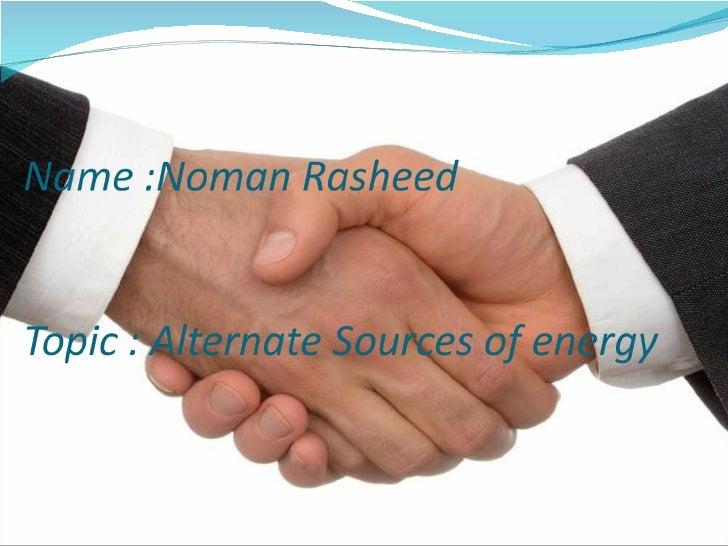 Alternative sources of energy Slide 3
