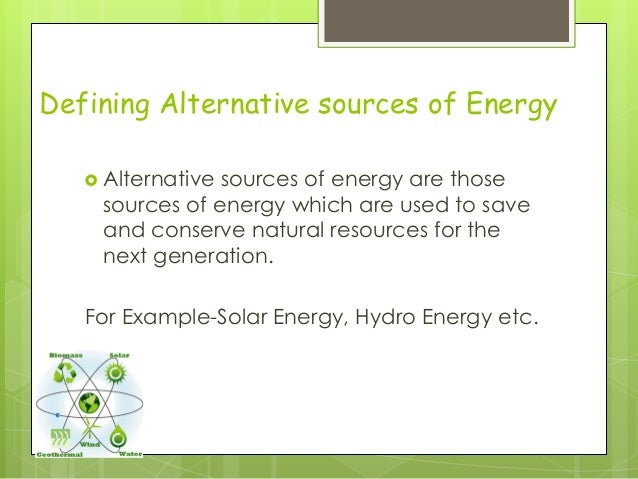 Alternative Ways To Conserve Natural Resources