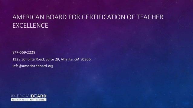 Alternative Teacher Certification