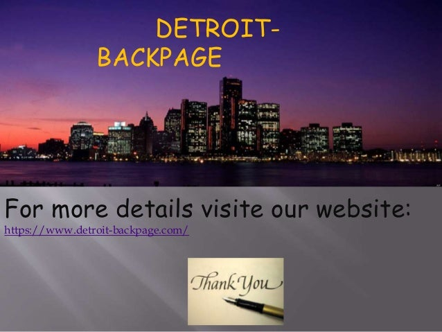 Detroit Backpage Com >> Detroit Backpage Site Similar To Backpage Alternative To