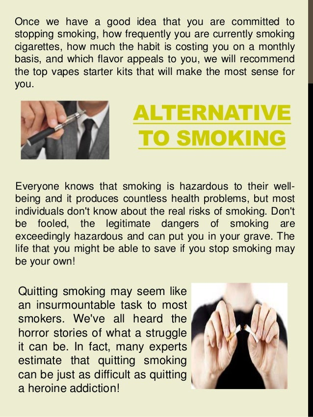Alternative to smoking