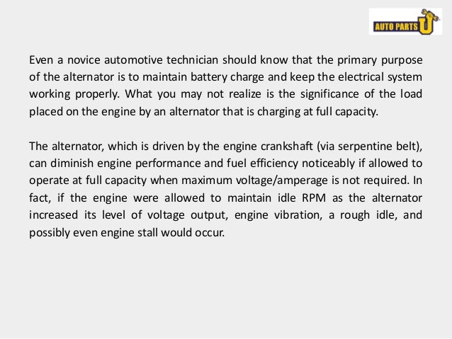 Alternator smart charging, what is it?