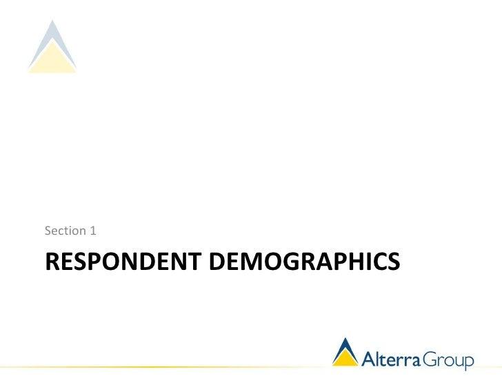 Section 1RESPONDENT DEMOGRAPHICS