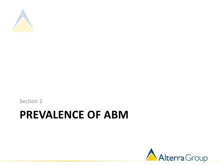 Section 2PREVALENCE OF ABM