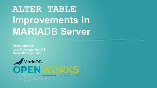ALTER TABLE Improvements in MariaDB Server