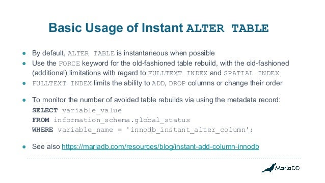 alter table drop column