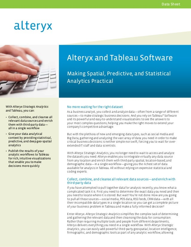 Data preparation for Tableau with Alteryx