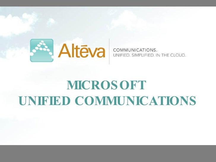 MICROSOFT  UNIFIED COMMUNICATIONS