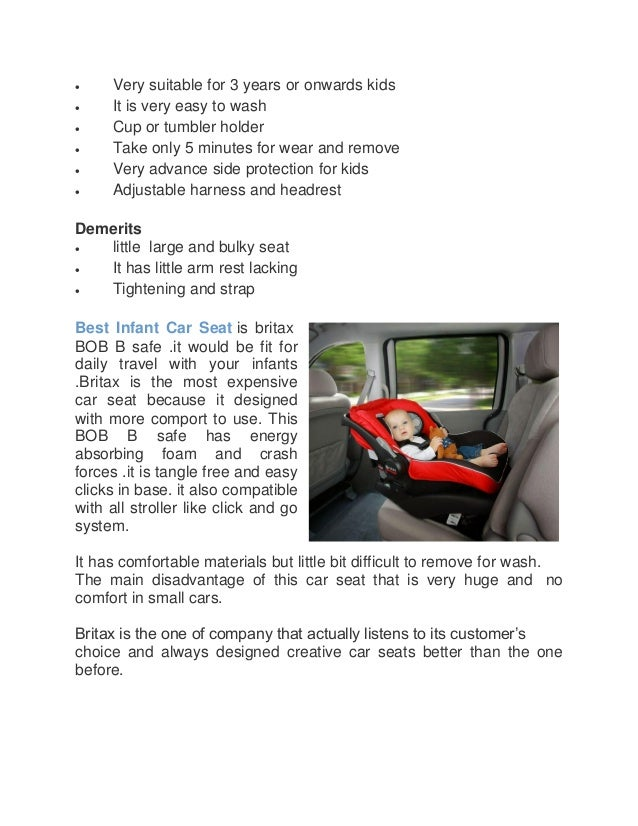 Amazing facts about Britax car seats for kids