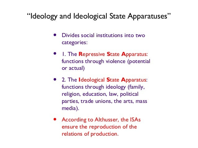 louis althusser ideology and ideological state apparatuses summary pdf