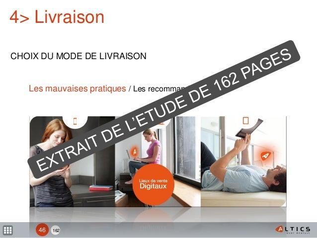 162 4> Livraison CHOIX DU MODE DE LIVRAISON 46 Les mauvaises pratiques / Les recommandations