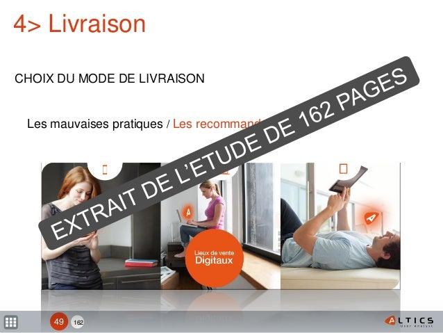 162 4> Livraison CHOIX DU MODE DE LIVRAISON 49 Les mauvaises pratiques / Les recommandations