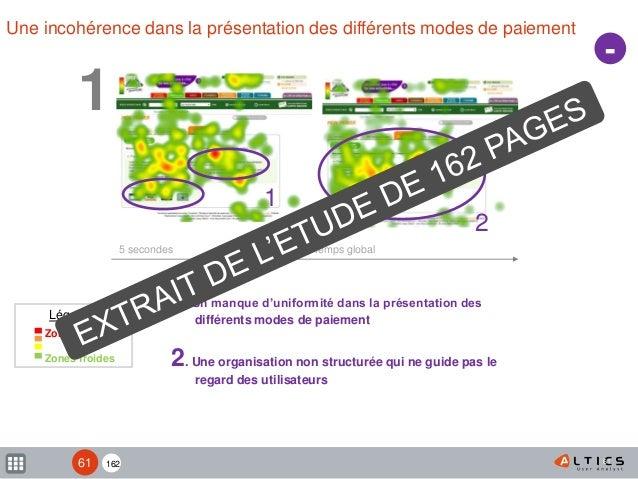 162 61 Une incohérence dans la présentation des différents modes de paiement 5 secondes   Temps global 1. Un manque d'unif...