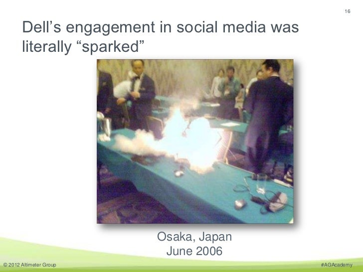 """16       Dell's engagement in social media was       literally """"sparked""""                         Osaka, Japan             ..."""