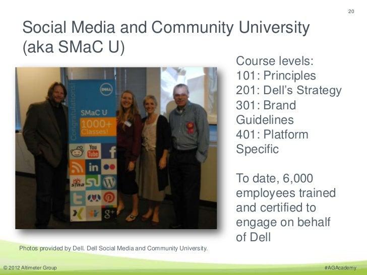 20       Social Media and Community University       (aka SMaC U)                                                         ...