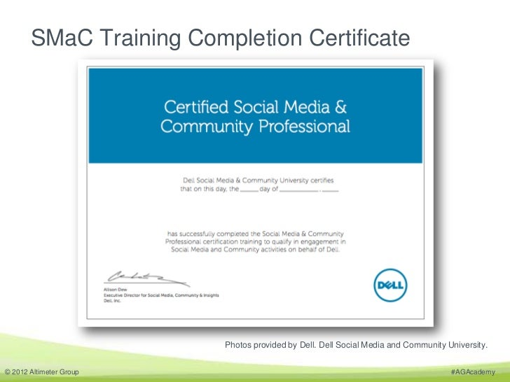 Smac Training Completion Certificate Photos