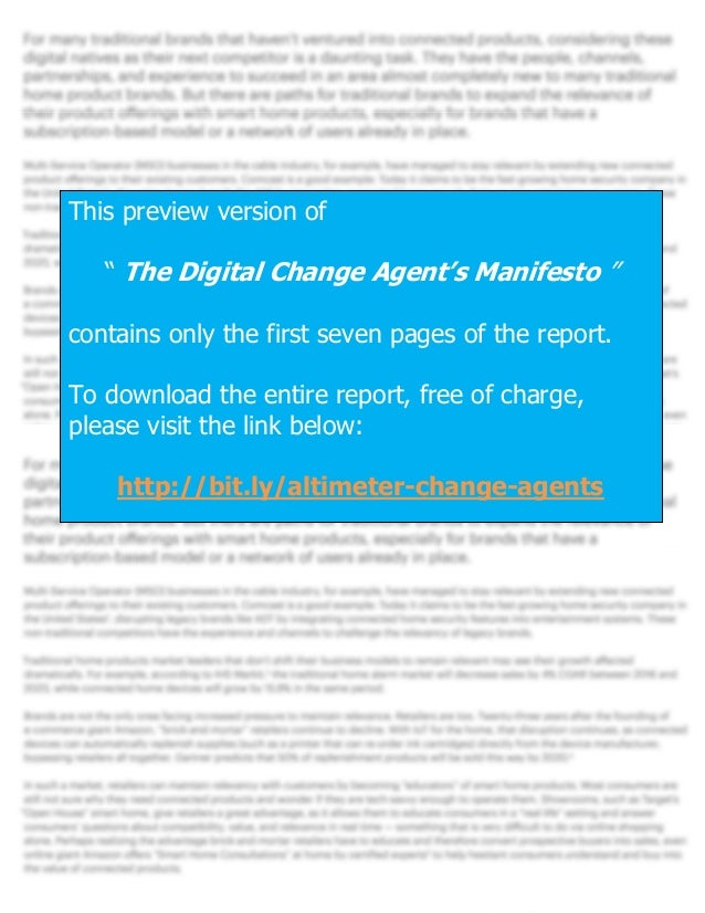 [REPORT PREVIEW] The Digital Change Agent's Manifesto