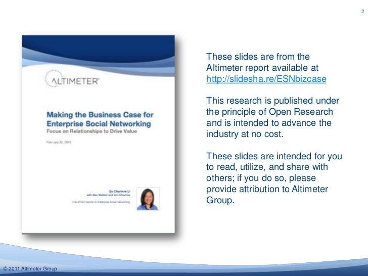 "Slides from ""Making The Business Case For Enterprise Social Networks"" Report Slide 2"