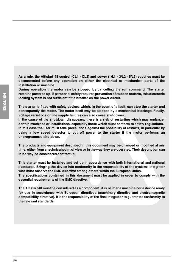 Altistart 48 user manual.