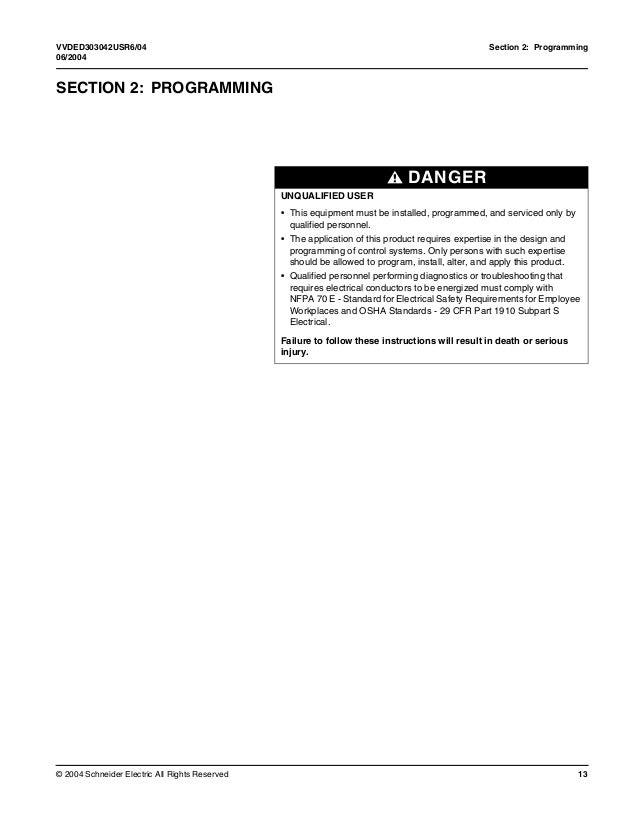 Altivar 31 Programing manual